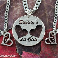Dads and Daughters, Daddys Lil Girls Family Love and relationship set Half Dollar