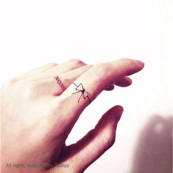 Finger tattoo,6 pcs temporary tattoo, valentine's  - Temporary Tattoo T281
