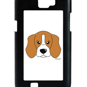 Cute Beagle Dog Galaxy Note 2 Case  by TooLoud