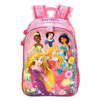 New Fashion Princess Girls School Bags Kids Cartoon  Backpack Bag For Children Gifts