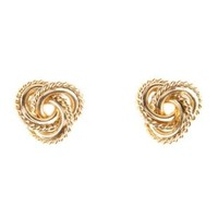 Twisted Infinity Knot Stud Earrings by Charlotte Russe - Gold