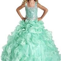 GKD 2015 Beads Ball Gown Flower Pageant Communion Dresses