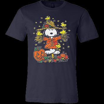 Peanuts Halloween Snoopy Woodstock Scarecrow Great Pumpkin T Shirt