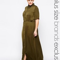 Alice & You Utility Shirt Maxi Dress at asos.com