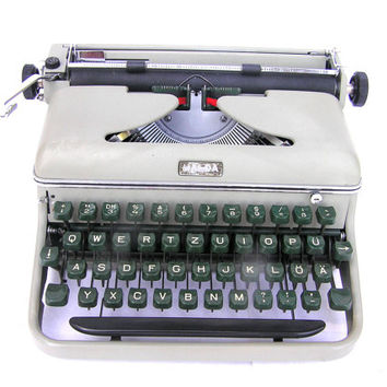 Typewriter Halda very good working condition from Sweden rare typewriter 1958 office decor portable home decor writing