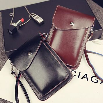 handmade cell phone cross body leather bag gift 2