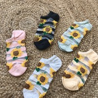 SUNFLOWER SHEER SOCKS- MORE COLORS