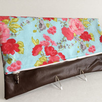 Foldover Clutch, Zippered Clutch, Floral Clutch, Fabric Clutch, Handbag, Ipad Case, Gift For Her