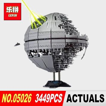 Star Wars Force Episode 1 2 3 4 5 LEPIN 05026  classic Death  The second generation 3449Pcs Building Block Bricks Toys Model Compatible legoed 10143  AT_72_6