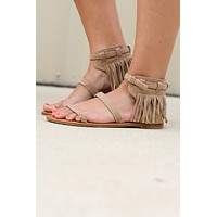 That's A Wrap Fringe Sandal