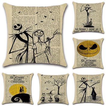 Nightmare Before Christmas Cartoon Pattern Pillow Cases