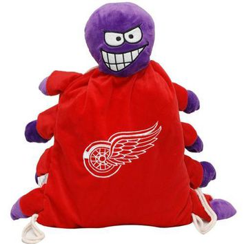 Detroit Red Wings NHL Plush Mascot Backpack Pal
