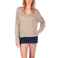 Fluxus Top in Almond Stripe - Almond