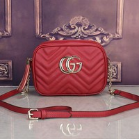 DCCK6HW Gucci' Simple Casual Fashion Tassel Zip Double G Logo Quilted Metal Chain Single Shoulder Messenger Bag Women Small Square Bag