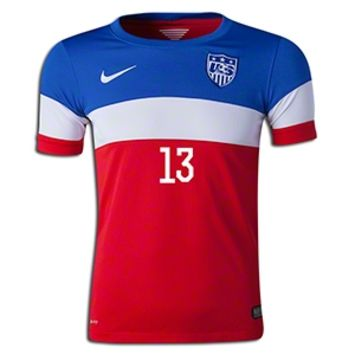 Nike Alex Morgan USA Youth Away Jersey 2014 || SOCCER.COM
