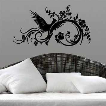 Phoenix Swirls Sticker Stylish Fashion Zoo Wall Decal Art Vinyl Sticker tr620
