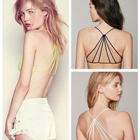 SIMPLE - Women Backless Spagehetti Strap Women Tank Vest a10744