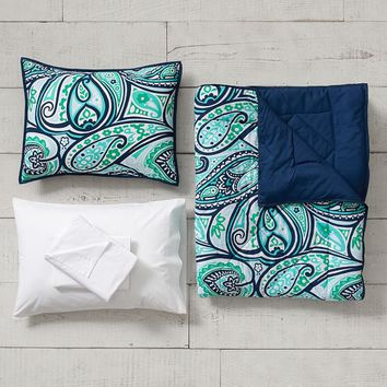 Paisley Perfect Value Comforter Set with Sheets, Pillowcase, Comforter + Sham