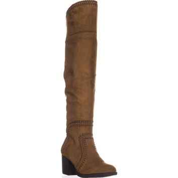 AR35 Lauraine Over-The-Knee Boots, Cognac, 7 US