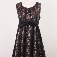 Night-falling for You Bowknot Dress - Retro, Indie and Unique Fashion