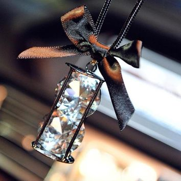 Crystal Car Bow Ornament