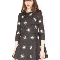 insect print dress