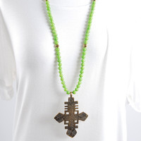 The Sherry Necklace - Green