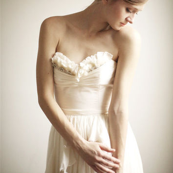 Alice- Silk Chiffon Wedding Gown--Etsy Exclusive