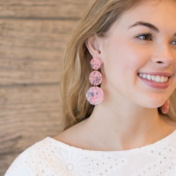 Coral Acrylic Statement Earring
