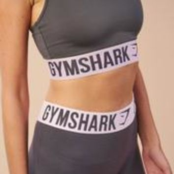 Gymshark Fit Sports Bra - Charcoal/Chalk Pink