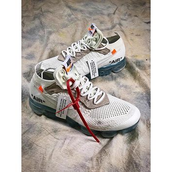 OFF WHITE Nike Air Vapormax Mesh White Sport Running Shoes