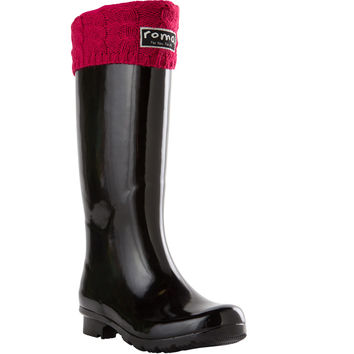 ROMA Women's Classic Raspberry Cable Knit Boot Liner