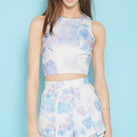 Tiger Mist Lavender Splash Crop Top