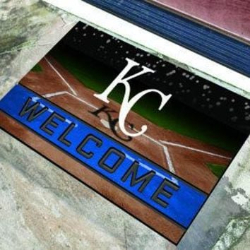 Kansas City Royals Door Mat 18x30 Welcome Crumb Rubber