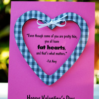 Pitch Perfect Valentines with Fat Heart/Fat Amy Quote SET OF 2