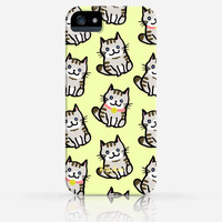 Cute Cat Pattern iPhone 4 Case, iPhone 4s Case, iPhone 5 Case, iPhone 5s Case, iPhone Hard Plastic Case