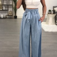 DENISE LIGHT DENIM PALAZZO