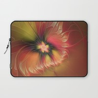 Fantasy Flower, Abstract Fractal Art Laptop Sleeve by Gabiw Art