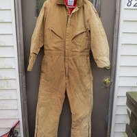 vtg  Brown Insulated Coveralls by Zero Zone by WAlls  sz regular med