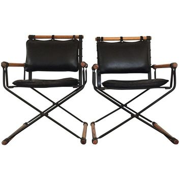 Pre-owned Vintage Cleo Baldon Campaign Chairs - A Pair