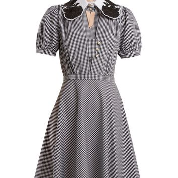 Embellished-collar gingham cotton dress | No. 21 | MATCHESFASHION.COM UK