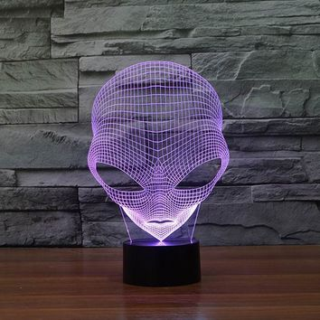 Unique 3D Special Alien Shape LED Table Lamp with USB Power FS-3048
