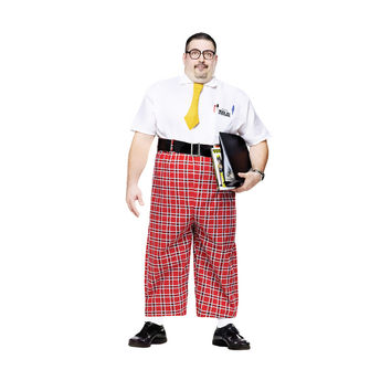 Nerd 50's adult plus Costume