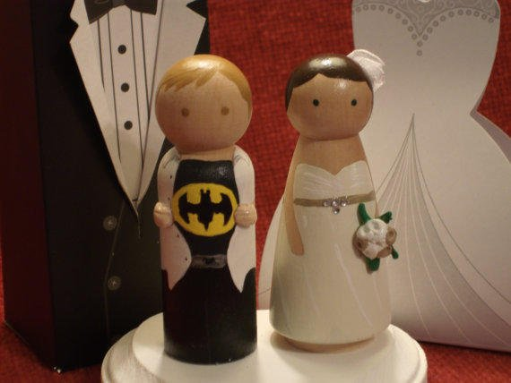 custom superhero wedding cake toppers custom and his cake from 13231