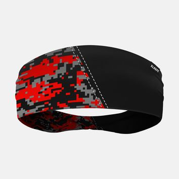 Arsenal Black Red Gray Digi Camo Headband