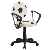 Flash Furniture Soccer Task Chair with Arms [BT-6177-SOC-A-GG]