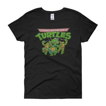 Tmnt Teenage Mutant Ninja Turtles Movie Vintage Women'S T Shirt
