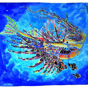 Lion fish Mermaid Hand Batiked Wall Hangings