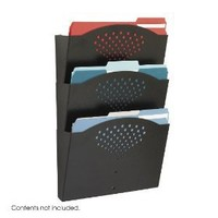 Safco Steel Wall Pockets, Triple Tray, Letter Size, 12 Inches Width x 17.25 Inches Height, Black...
