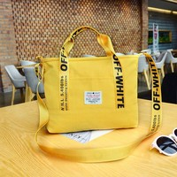 Stylish Student Handbag Casual Canvas Crossbody Bag Handbag